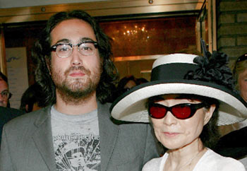 Sean Lennon Wearing Browline Eyeglasses