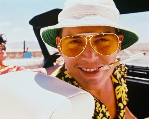 johnny-depp-fear-loathing-in-las-vegas aviator sunglasses