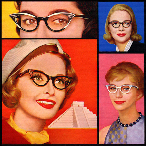 American Optical Cat-eye Glasses, 1959