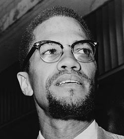 Malcolm X Wearing Glasses
